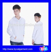 Cheap good quality custom hoodies wholesale 100% cotton plain white pullover hoodies mens fleece hoodies