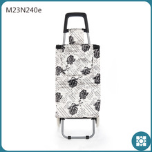 Lover Rose Faille Foldable Trolley Shopping Bag