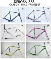De Rosa 888 SuperKing full carbon Toray 700C Carbon fiber Road bicycle frames,De Rosa Bike Carbon Frames free shipping