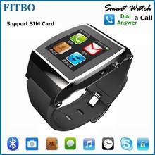Newest Bluetooth Sync SIM Card Skype 1.55inch u8 smart watch