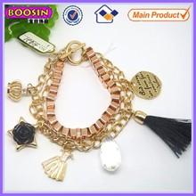 Golden logo charm chain bracelet accessories #31421