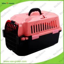 Luxury Plastic Portable Dog Travel Cage/ Dog Transport Cage/ Dog Carrier