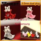 Cheap custom cell phone dust plug charm china supplier, Hot selling earphone Anti Dust Plug
