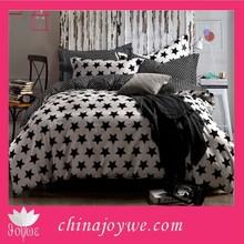 100% Cotton Star Print Modern Bedroom Sets China Supplier Duvet Cover Set(housse de couette)