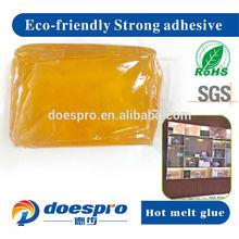 Elastic hot melt glue low temperature wood adhesive