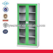 OEM&ODM metal knock down glass door cabinet