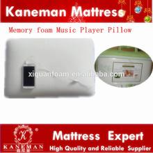 Memory foam music player pillow