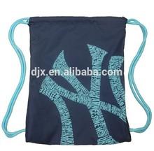 Polyester Material Bi-String Storage Backpack Printed, Waterproof Drawstring Backpack