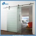 Interior largo sin marcos vidrio corredizas puertas