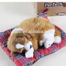 Realistic coverd rabbit fur fake fur sleeping dog