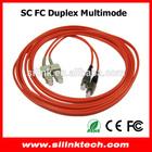 SC-FC multimode duplex 3.0mm patch cord optical fiber cable
