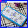 Made in China Guangzhou supplier printing flowers mobile phone leather case for iphone 5 5S