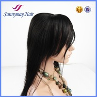 Wholesale New Products 100% Brazilian Hair Straight Silk Base Bleached Knots Lace Frontal With Bang