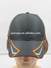 Custom baseball cap with led light in visor