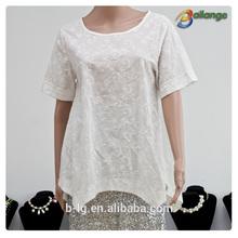 Sexy design for 2015 summer garment wholesale ladies elastic waist blouse