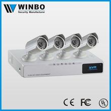 H.264 4CH NVR Kit 720P ONVIF P2P POE NVR Kit cheap cctv camera kit