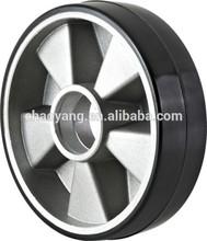 pallet truck black pu cast aluminium wheel