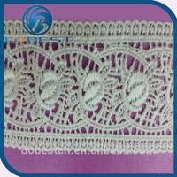 embroidery lace guangzhou fashion design lace baju kurung wide stretch lace trim wholesale