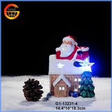 Festival decorative ceramic christmas lighted houses