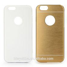 alibaba express protective metal pu leather case for iphone 6/new fashion metal pu leather case
