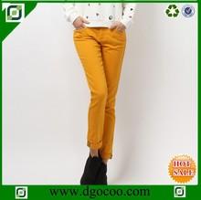 New female trousers slim trousers khaki pants cuffs printing woman trousers