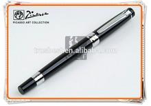 XJ-P917 Picasso Pen/Rome Romance(Pure Black)Silvery Clip Pen , Picasso metal ball pen