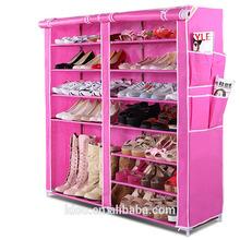 Travel canvas shoe organizer shoe rack closet organizer (FH-CS0501 )
