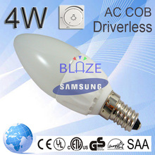 Lowest Price 4w Low Power Cob Driverless Led Candle Light Bulb