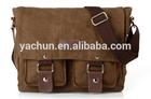 vintage fashion leisure canvas leather messenger bag for men,men messenger bags,shoulder bags for men