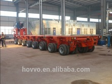 China manufacturers heavy duty multi axles lowboy for wind blade transportation hydraulic modular trailer