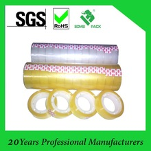 clear and golden yellow stationery tape