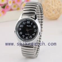 Zinc alloy ladies watch accept paypal elastic strap watch women