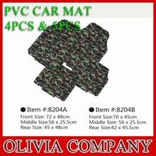 High Quality Camouflage Color 5pcs or 4pcs PVC Car Mat