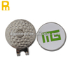 Gold plated custom sticker logo golf ball marker with magnetic hat clips