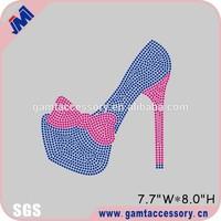 Beautiful high heeled shoe rhinestone transfer bling