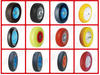 plastic rubber wheels and PU wheel