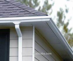 Best quality plastic rain gutters for roof 5.2inch rain gutter