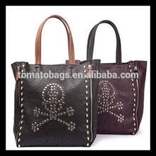 black casual women tote bag fashion lady designer skull bag