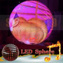uniform pixel design technology, sunrise full color 3D viewing angle led sphere