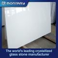 2014 nuevo diseño nano artificial de cristal blanco de la losa