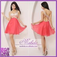 Hot Sale Beaded Short One Shoulder Backless Cocktail Dress 2014 Patterns