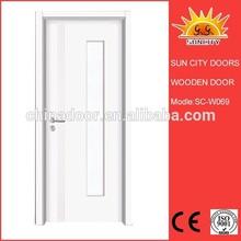 Front doors sunflower interior pvc wood door design SC-W069