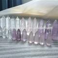 semi preciosa de piedra de color púrpura de amatista y cuarzo limón varita punto de cristal para la curación y la curación de cristal