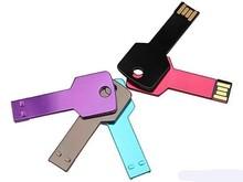 full colors Key Shape Metal USB key promotional usb custom logo