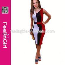 Wholesale cheap knee length red black evening dress online shopping women