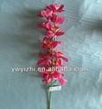 De un solo Artificial flores de orquídeas nuevo diseño de plástico Phalaenopsis de tela falsa orquídea para decoración de la boda
