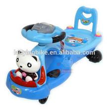 4 wheels plastic baby swing car children twist car