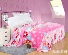 100%Polyester stock mink blankets Lovely Flower children blanket flannel fleece blanket