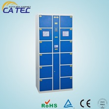 12 doors metal electronic keyless lockers with CE certification
