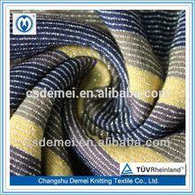 T/C yarn dyed and metallic shiny jersey fabric